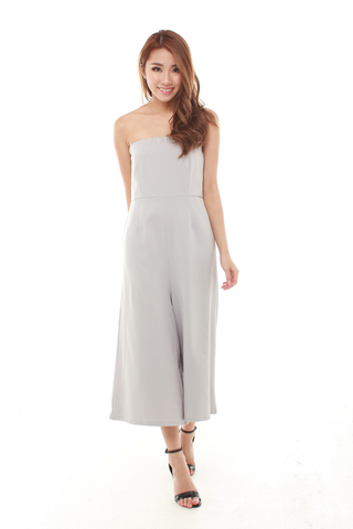 Raven Tube Jumpsuit in Grey
