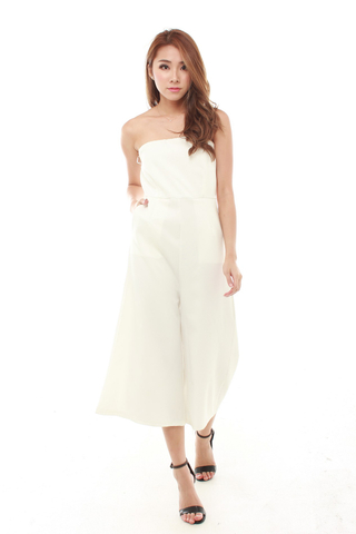 Raven Tube Jumpsuit in White