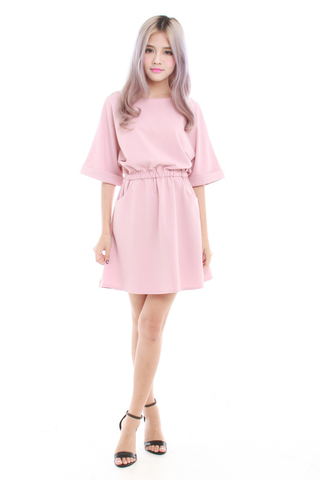 Kaye Oversize Casual Dress in Pink