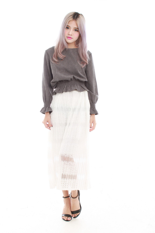 Zaya Maxi Lace Skirt in white