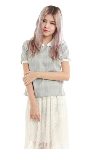Annis Collar Shirt in Grey Checks