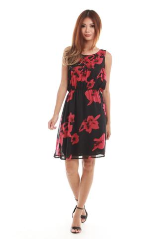 Brooke Summer Dress in Red