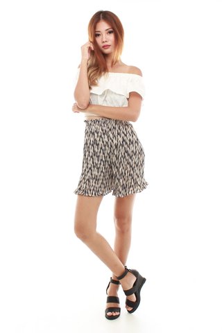 Eletta Pleated Culottes  in Zig Zags