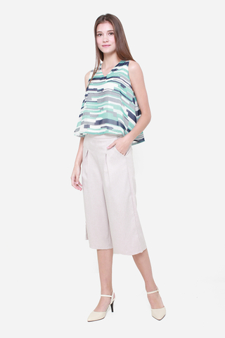 Hang Around Me Culottes in Biege