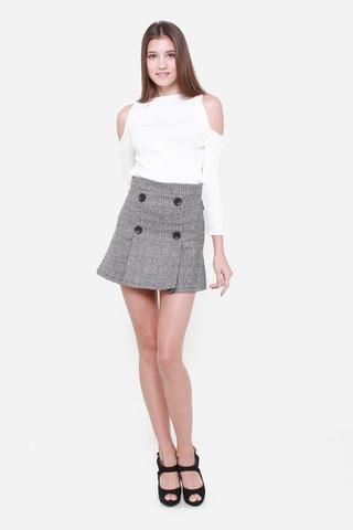 Tweedle Around Skirt in Grey
