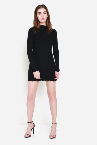 Piece of Mine Knit Dress in Black