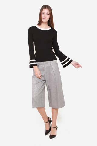 Hang Around Me Culottes in Grey