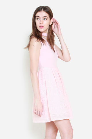 Chin Up Dress in Rose