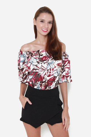 Floral Dreamin' Off Shoulder Top in Autumn Prints