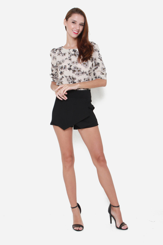 Hey Bud Floral Blouse in Cream Florals