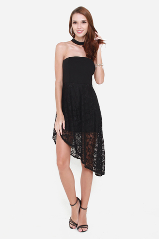 My Lace Affair Tube Dress in Black