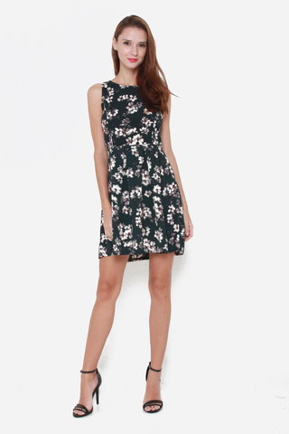 Spring Blooms Dress in Green