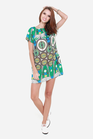 Take Flight Shift Dress in Dreamcatcher Print
