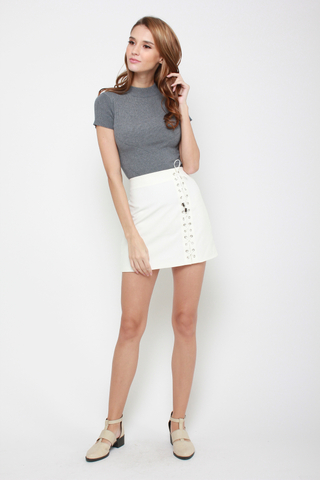 Lacing My Heart Mini Skirt