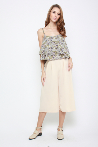 Sky's The Limit High Waisted Culottes in Cream