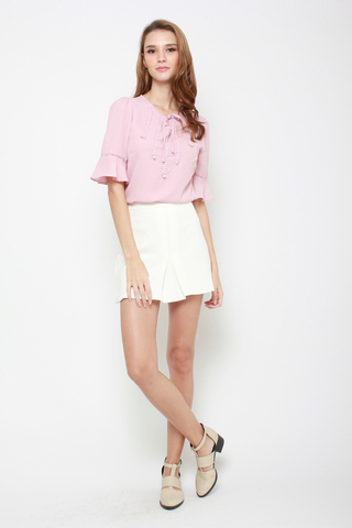 Heart of Purity Mini Skirt in White