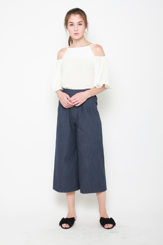 In The Bag Wide Leg Pants in Blue