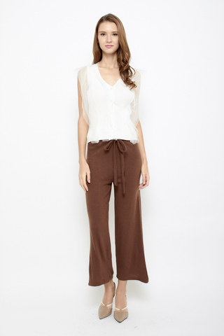 No Big Deal Tie Pants in Brown