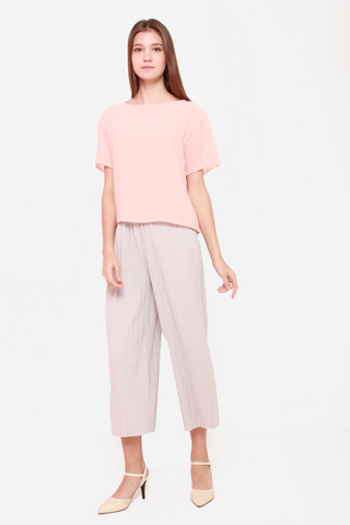 Chiffon Me Away Top in Rose