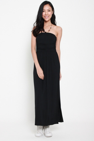 Beautiful People Bustier Maxi Dress in Black