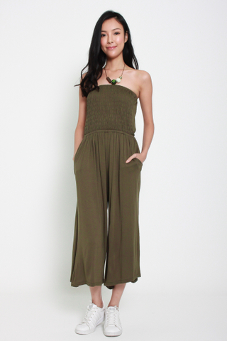 Bust a Move Tube Jumpsuit in Olive