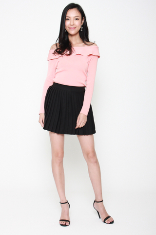 Com-Pleat Your Look Mini Skirt in Black
