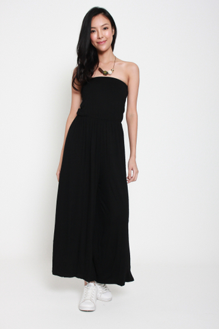 Dancing Queen Tube Jumpsuit in Black