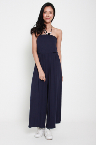 Dancing Queen Tube Jumpsuit in Navy