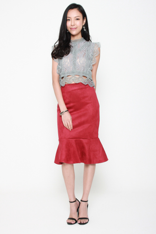 Under The Sea Mermaid Skirt in Red
