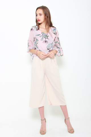 Go with the Flow Chiffon Top in Rose