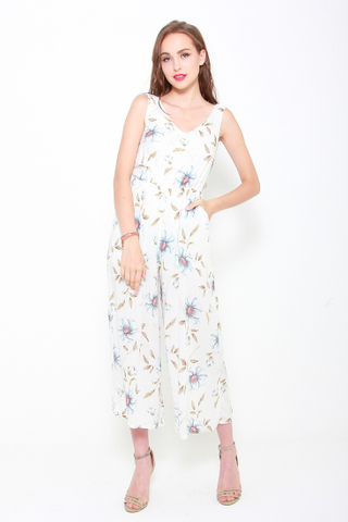 Jump Straight In Jumpsuit in White