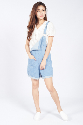 Delia  Playsuit in Light Denim