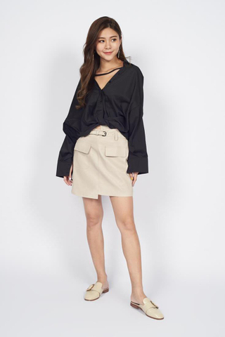 Oversize Boyfriend Shirt in Black