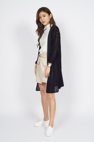 Long Line Cardigan in Black